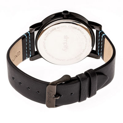 Simplify Unisex Black Strap Watch-Sim5306