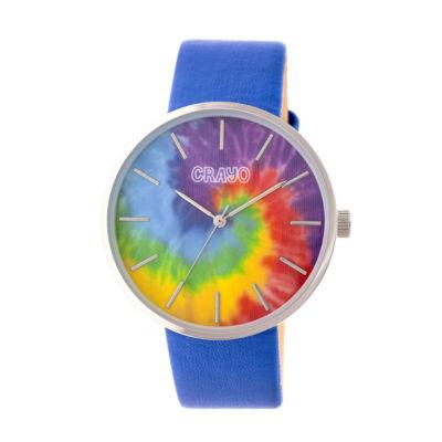 Crayo Unisex Blue Strap Watch-Cracr4202