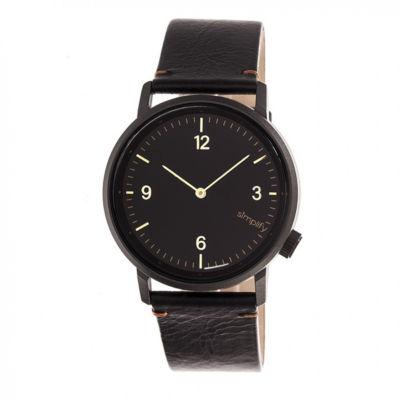 Simplify Unisex Black Strap Watch-Sim5502