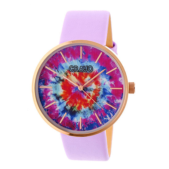 Crayo Unisex Adult Purple Strap Watch-Cracr4205