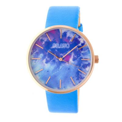 Crayo Unisex Blue Strap Watch-Cracr4204