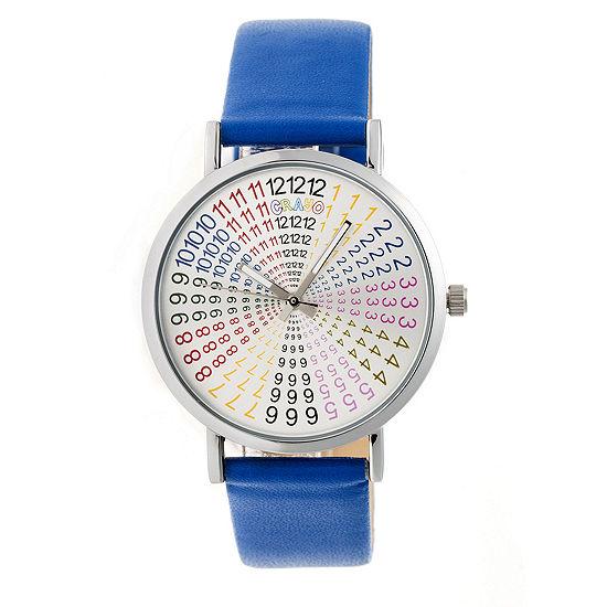 Crayo Unisex Adult Blue Strap Watch-Cracr4302