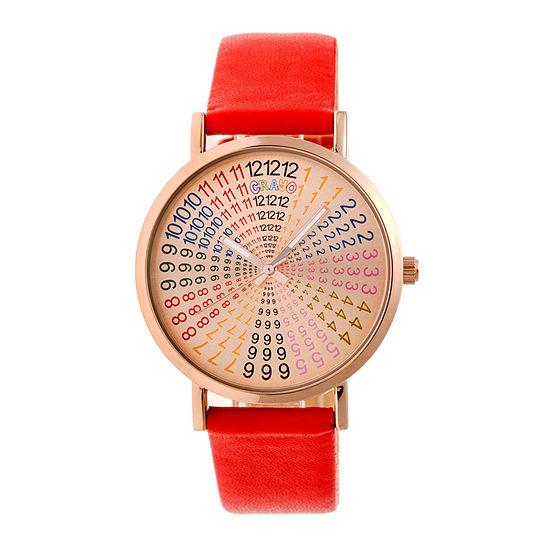 Crayo Unisex Red Strap Watch-Cracr4305