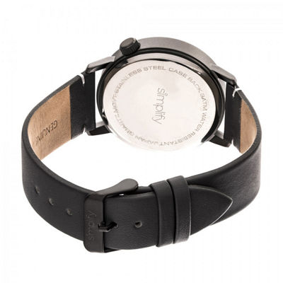 Simplify Unisex Black Strap Watch-Sim5506