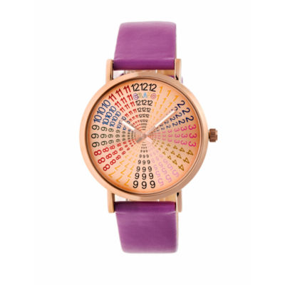 Crayo Unisex Purple Strap Watch-Cracr4307