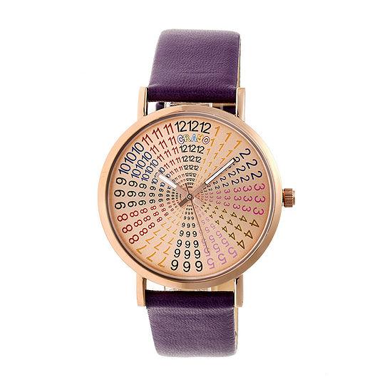 Crayo Womens Purple Strap Watch-Cracr4306