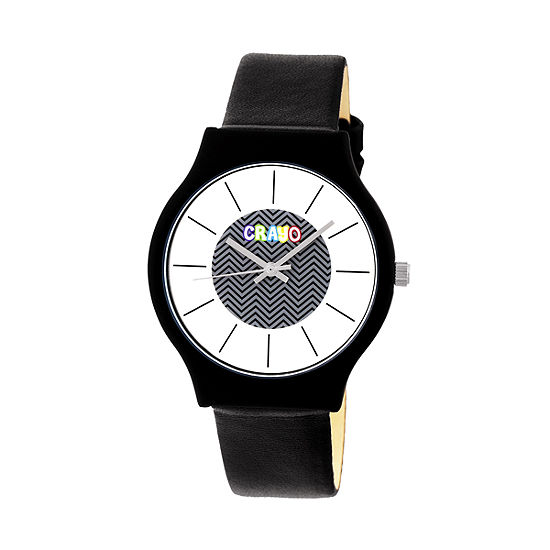 Crayo Unisex Adult Black Strap Watch-Cracr4401