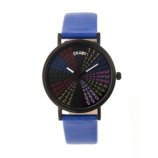 Crayo Unisex Blue Strap Watch-Cracr4308