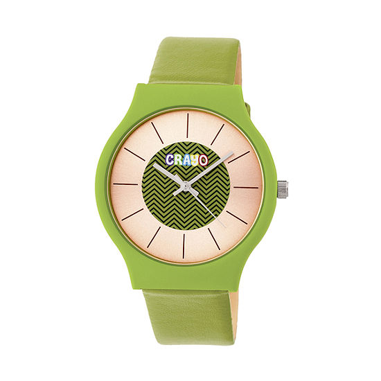 Crayo Unisex Green Strap Watch-Cracr4403