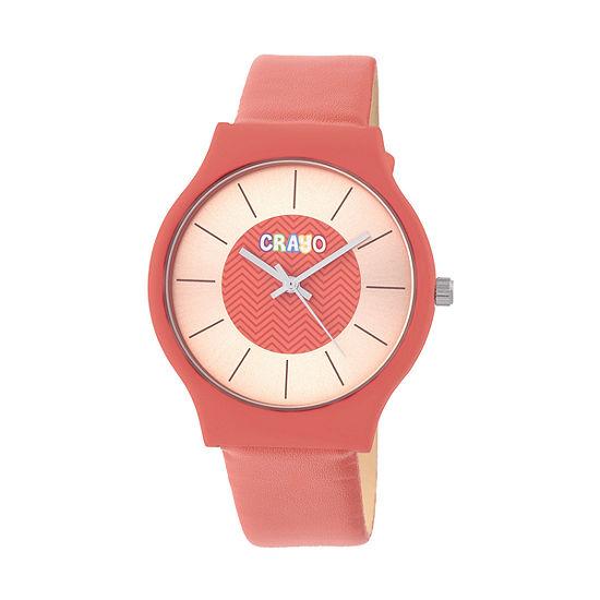 Crayo Unisex Red Strap Watch-Cracr4402