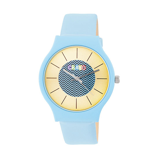 Crayo Unisex Adult Blue Strap Watch-Cracr4405