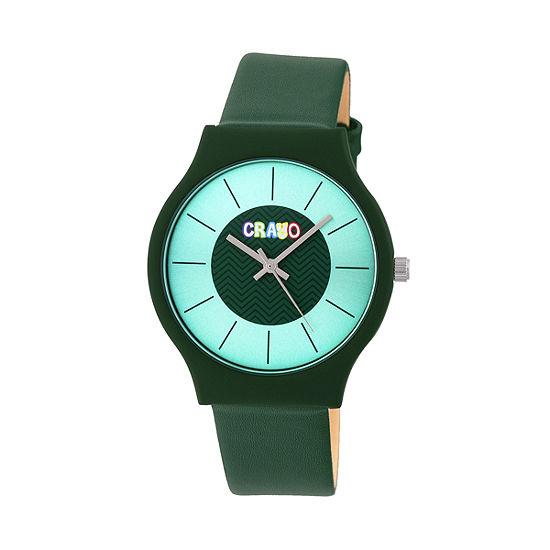 Crayo Unisex Adult Green Strap Watch-Cracr4404