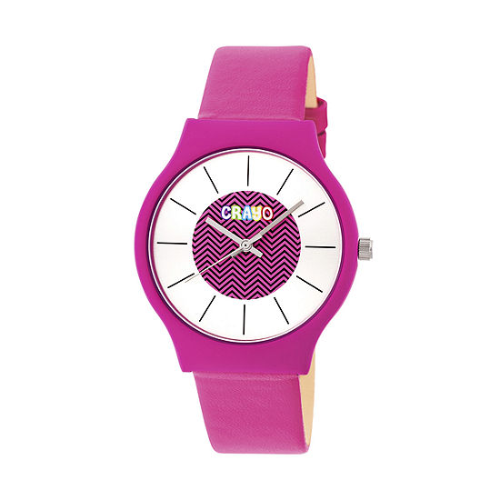 Crayo Unisex Pink Strap Watch Cracr4406