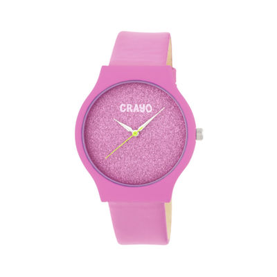 Crayo Unisex Pink Strap Watch-Cracr4501