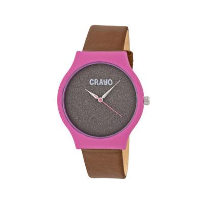 Crayo Unisex Brown Strap Watch-Cracr4502