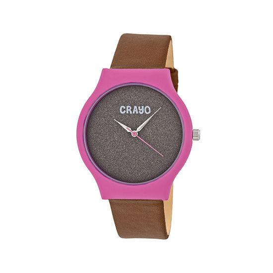 Crayo Unisex Adult Brown Strap Watch-Cracr4502