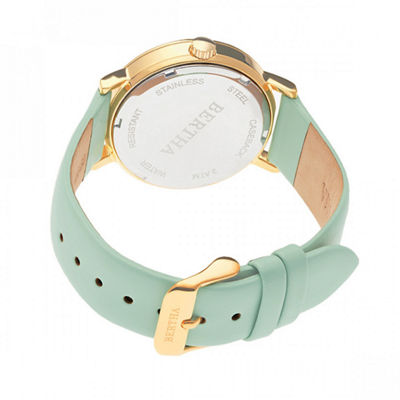 Bertha Unisex Green Strap Watch-Bthbr7704