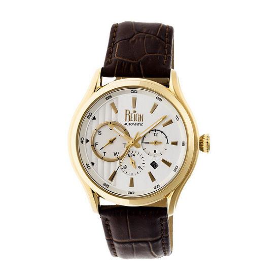 Reign Unisex Brown Strap Watch Reirn1502