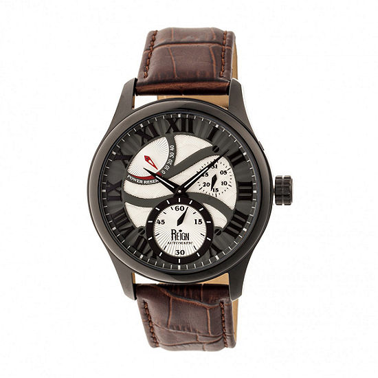 Reign Unisex Automatic Brown Leather Strap Watch-Reirn1604
