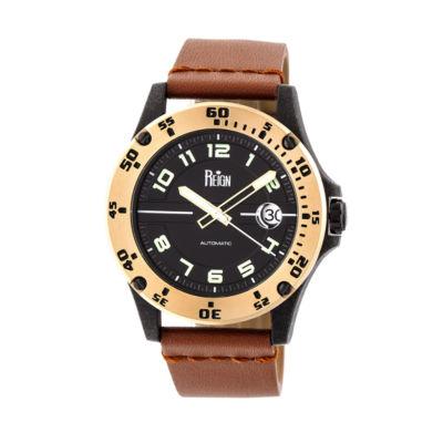 Reign Unisex Brown Strap Watch-Reirn5006