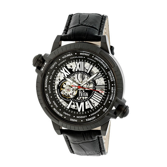 Reign Unisex Black Automatic Strap Watch-Reirn2102