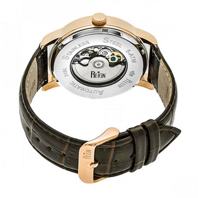Reign Unisex Brown Strap Watch-Reirn3604