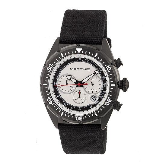 Morphic Unisex Adult Black Leather Bracelet Watch-Mph5304