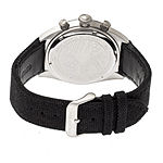 Morphic Unisex Adult Black Leather Bracelet Watch-Mph5301