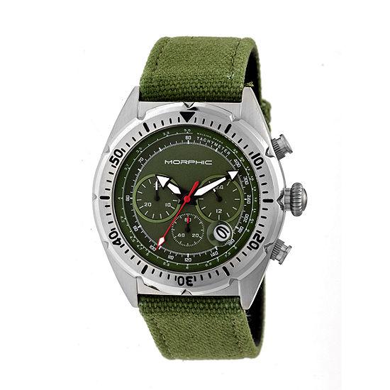 Morphic Unisex Adult Green Leather Bracelet Watch-Mph5302