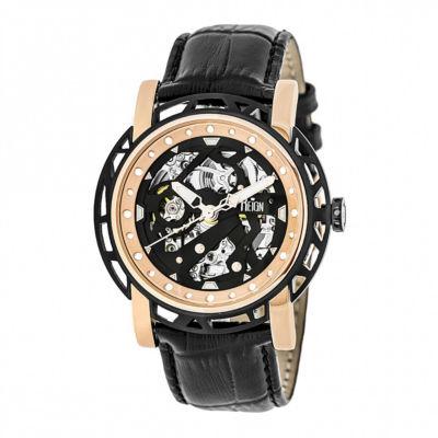 Reign Unisex Black Strap Watch-Reirn3706