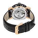 Reign Unisex Adult Automatic Black Leather Strap Watch-Reirn3706