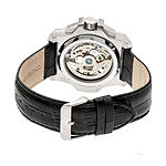 Reign Unisex Adult Automatic Black Leather Strap Watch-Reirn4001