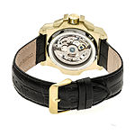 Reign Unisex Adult Automatic Black Leather Strap Watch-Reirn4003