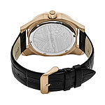 Morphic Unisex Adult Black Leather Bracelet Watch-Mph4607