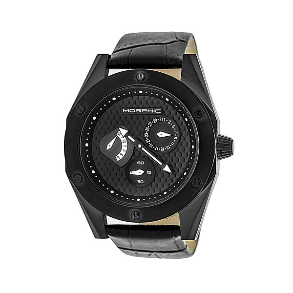 Morphic Unisex Black Strap Watch-Mph4604