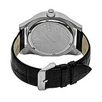 Morphic Unisex Adult Black Leather Bracelet Watch-Mph4602