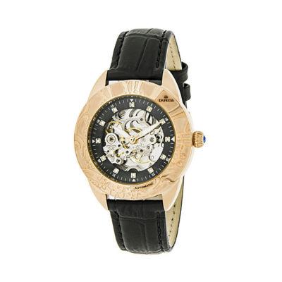 Empress Unisex Black Strap Watch-Empem1107