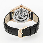 Empress Unisex Adult Black Leather Strap Watch-Empem1107