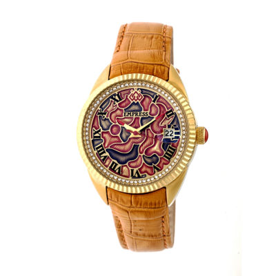 Empress Unisex Orange Strap Watch-Empem1805