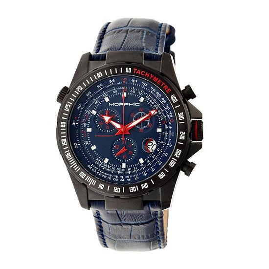 Morphic Unisex Adult Blue Leather Bracelet Watch-Mph3606