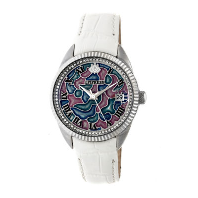 Empress Unisex White Strap Watch-Empem1804
