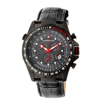 Morphic Unisex Black Strap Watch-Mph3607