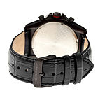 Morphic Unisex Adult Black Leather Strap Watch-Mph3607