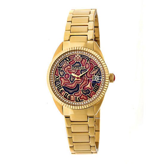 Empress Unisex Gold Tone Bracelet Watch-Empem1802