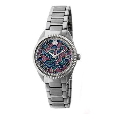 Empress Unisex Silver Tone Bracelet Watch-Empem1801