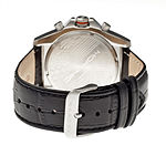 Morphic Unisex Adult Black Leather Strap Watch-Mph3601
