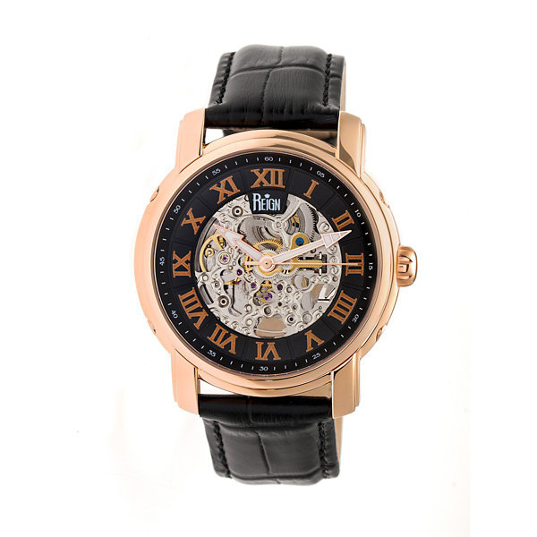 Reign Unisex Black Strap Watch-Reirn4306