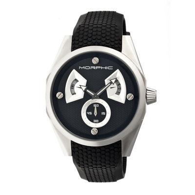 Morphic Unisex Black Strap Watch-Mph3402