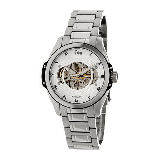 Reign Unisex Adult Automatic Silver Tone Stainless Steel Bracelet Watch-Reirn4501