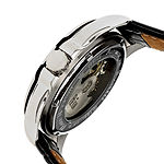 Reign Mens Automatic Black Leather Strap Watch-Reirn4504